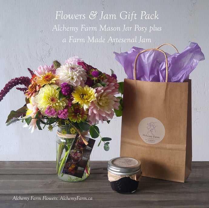 Alchemy Farm Flowers and Jam Gift Pack