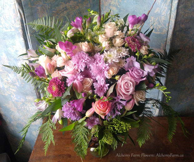 Healing Thoughts Seasonal Flower Arrangement