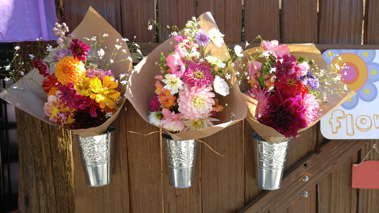 Four Hand-Tied Bouquets - Flower Subscription