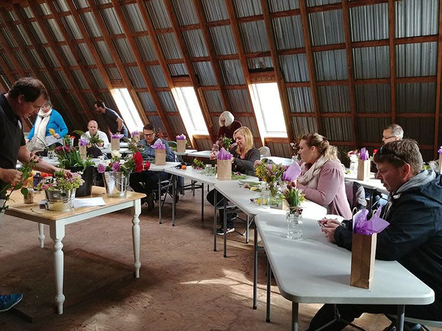 Fresh Flower Art Jewellery Group Workshop at Alchemy Farm