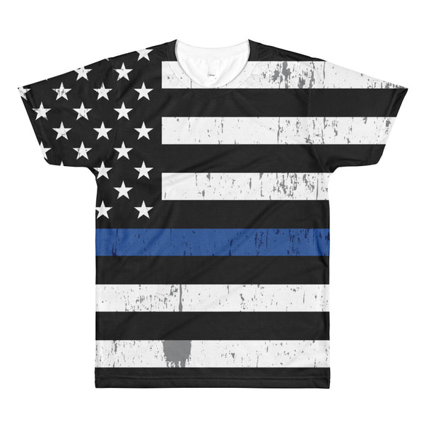 Blue Line Flag Allover Tee