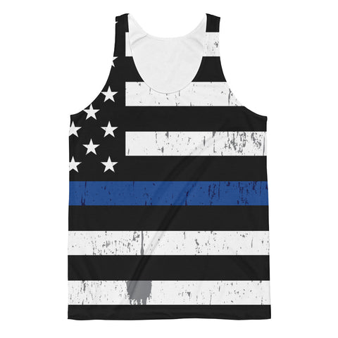 Blue Line Flag Allover Tank