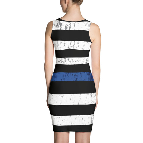 Blue Line Flag Dress