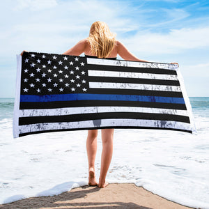 Thin Blue Line Flag Towel