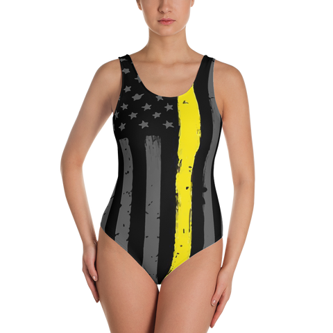 Thin Gold Line One-Piece Swimsuit
