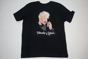 Tamela Mann w/ Microphone Shirt All Black