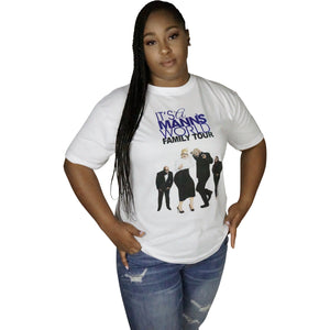 Mann's World Family Tour T-Shirt (White)