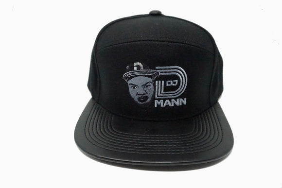 DJ DMann Snapback- Black Leather