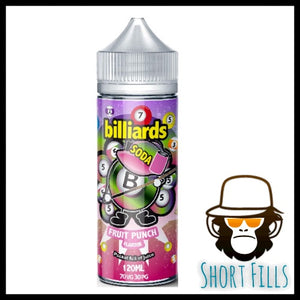 Billiards Soda Fruit Punch 120ml Short Fill E Liquid