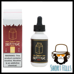 Milkman Heritage Red Short Fill 50ml E Liquid Bottle