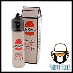 Milkman Strawberry Churrios Short Fill 50ml E Liquid Bottle