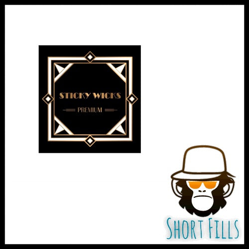 Sticky Wicks Pink Fizzler short fill e liquid 50ml bottle