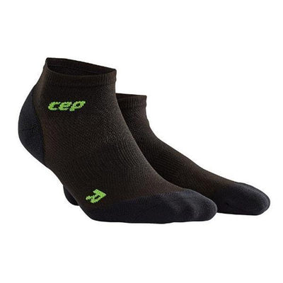 CEP Compression Men's Dynamic+ Run Ultralight Low-Cut Socks Black/Green