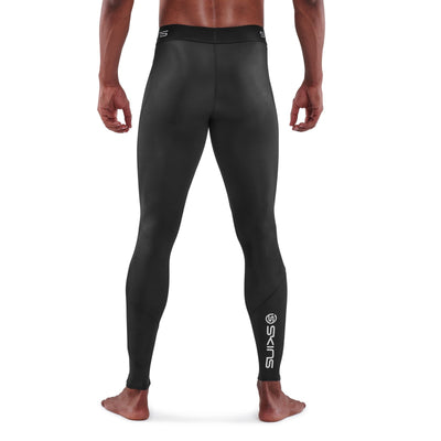 Skins Men's Series 1 Long Tights Black Back