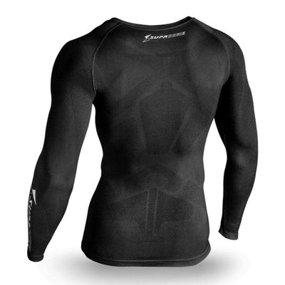 Supacore Men's Supa X  Long Sleeve  Body Mapped Posture Thermal Compression Top