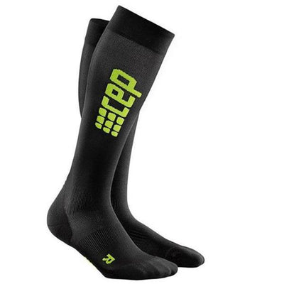CEP Compression Men's Progressive+ Ultralight Run Socks Black/Green