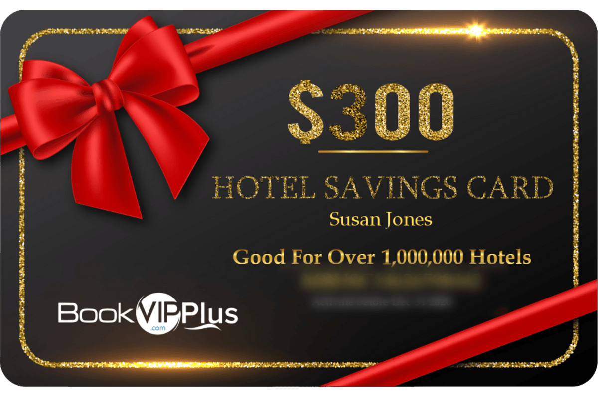 $300 Hotel Savings Card