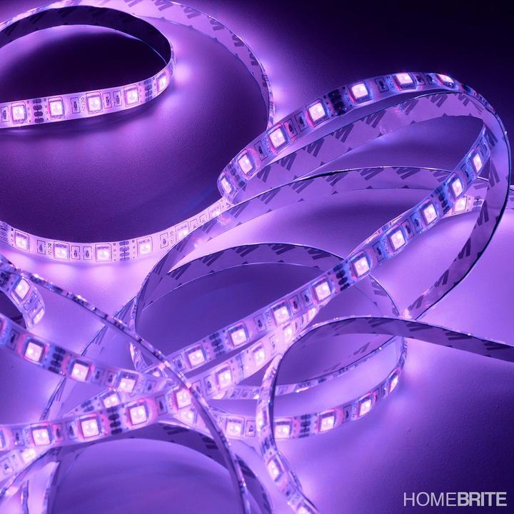Homebrite Color Changing Led Light Strip With Remote