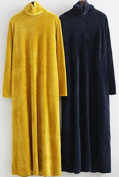 Pretty Simple Long Sleeves Velvet Dresses Fashion Dresses Long Dresses F0001