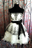 Simple Ivory And Black Short Cute Homecoming Dresses,Cute Dresses Z0016 - Bohogown