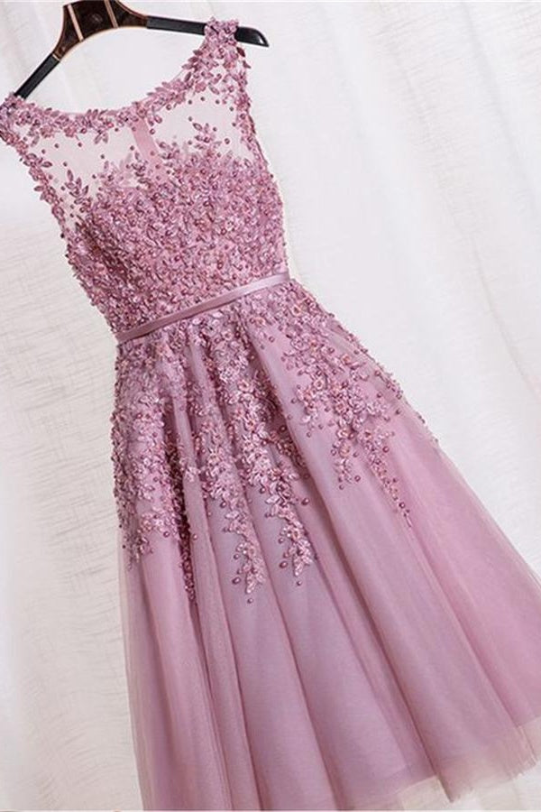 Lace Beading Homecoming Dresses,Short A-line Homecoming Dress,Cute Dresses Z0036