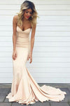 Real Beautiful Long Sweetheart Mermaid Simple Cheap Prom Dresses Z0140