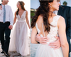 Elegant Simple Cheap Lace Tulle Long Zipper Back Beach Wedding Dresses Z0156