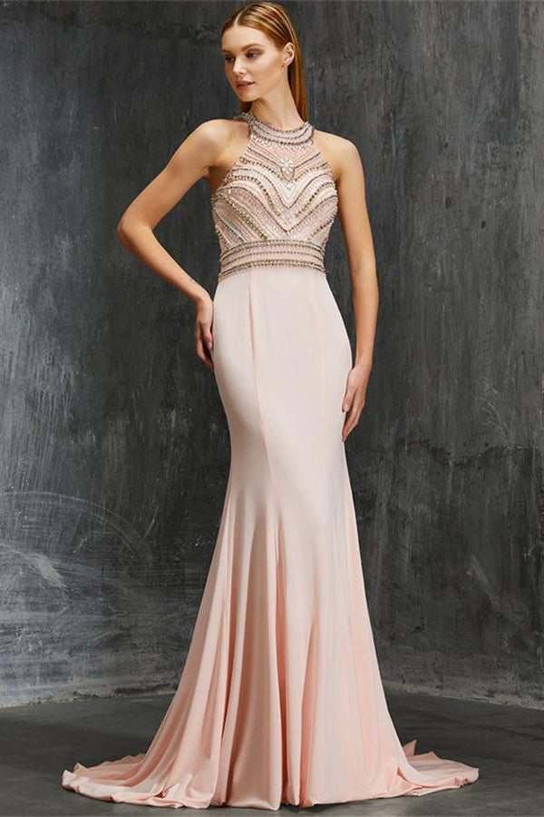 1c9bbbb730bd New Pink Beading Beautiful Elegant Long Mermaid Party Dresses Prom Dresses  Z0602
