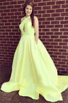 Elegant Simple Sleeveless Long Open Back Prom Dresses Graduation Dresses Z0702