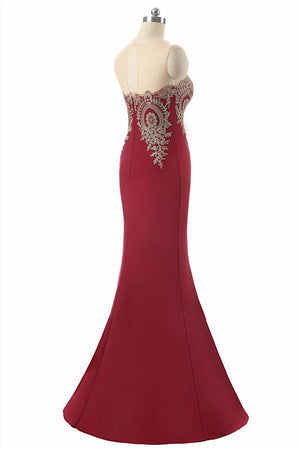 Modest Mermaid Lace Long Red Mother Of The Bridal Dresses Prom Dresses Z0756