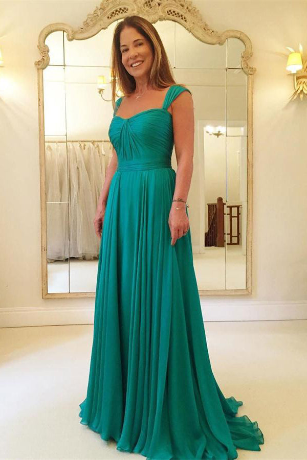 Simple Elegant  Long A-line Chiffon Mother Of The Bridal Dresses Prom Dresses Z0780