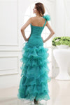 One Shoulder Short Front Long Back Elegant Beading Beautiful Prom Dresses Z0875