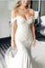 Modest Off The Shoulder Ivory Lace Wedding Dresses With Train Z0884