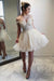 Off The Shoulder Classy Lace Tulle Short Backless Cheap Homecoming Dresses Z1115