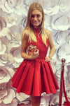 Formal Red Cocktail Dresses Elegant Simple Short Homecoming Dresses Z1207
