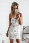 Spaghetti Straps Sheath Ivory Lace Short Simple Elegant Homecoming Dresses Z1220