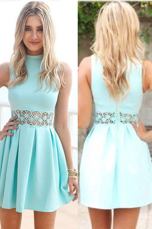 Simple Cheap A-line Cute Elegant Homecoming Dresses Short Prom Dresses Z1244