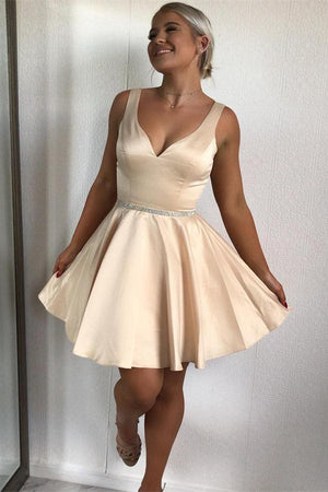 Simple Elegant Short Cute Homecoming Dresses For Teens Party Dresses Z1256