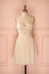 Simple Cheap Spaghetti Straps Chiffon Short A-line Homecoming Dresses Z1310