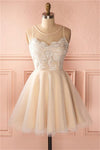 Beauty Short Simple Cheap Lace Tulle Homecoming Dresses For Teens Z1363