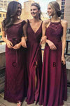 Simple Elegant Lace Chiffon Long Bridesmaid Dresses Dresses For Wedding Z1371