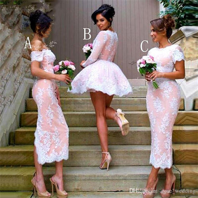 Beautiful Lace Prom Dresses Modest Bridesmaid Dresses For Wedding Z1434