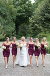Sheath Elegant Pretty Short Sweetheart Bridesmaid Dresses For Wedding Z1473