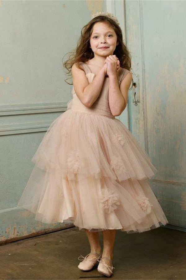 Pretty Beauty Flowy Flower Girl Dresses For Child Cute Dresses Z1496