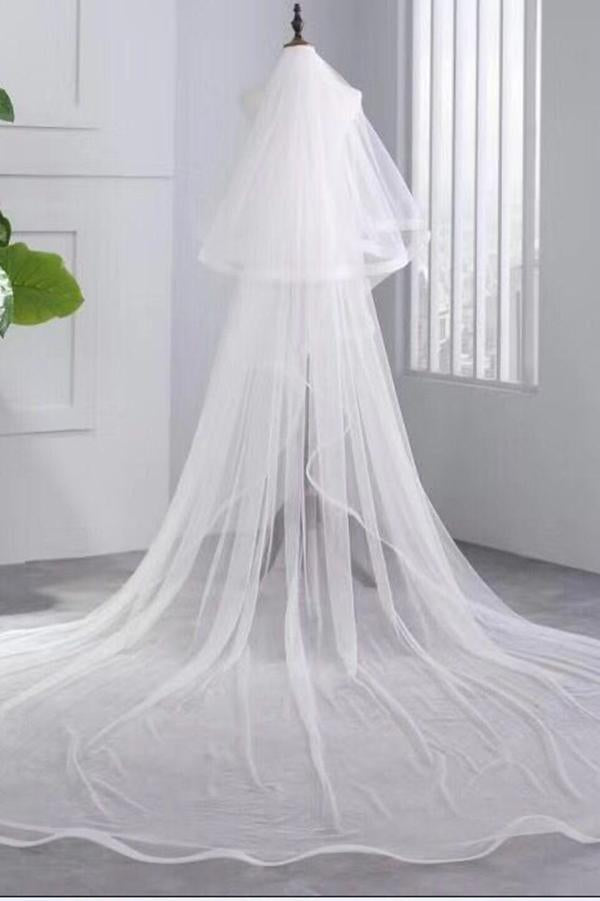 Simple Ivory Elegant 3M Tulle Wedding Veil Bridal Accessories Bridal Veil Z1563