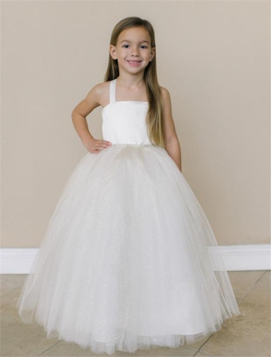 Simple Elegant Floor Length Tulle Dresses For Child Flower Girl Dresses Z1903