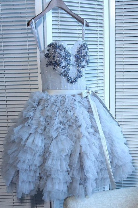 Princess Sweetheart Short Cute Homecoming Dresses Beaded Party Dresses Z2103
