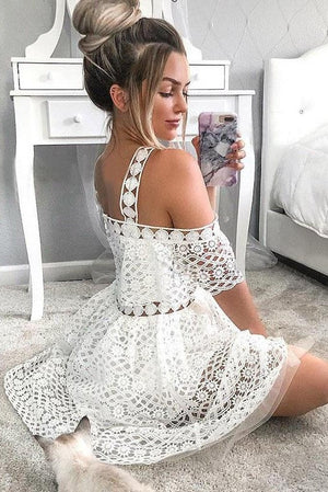 Elegant Lace Short Homecoming Dresses For Teens Simple Fashion Dresses Z2106