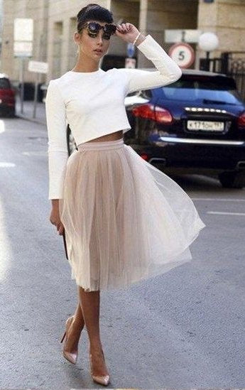 Two Pieces Long Sleeves Pretty Party Dresses Casual Homecoming Dresses Z2118
