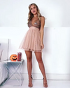 V-neck Empire Waist Short A-line Pink Simple Cute Homecoming Dresses Z2175